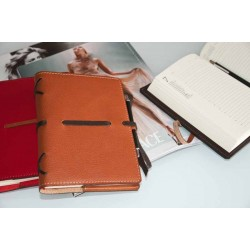Agenda in pelle serie Intreccio (BLACK)