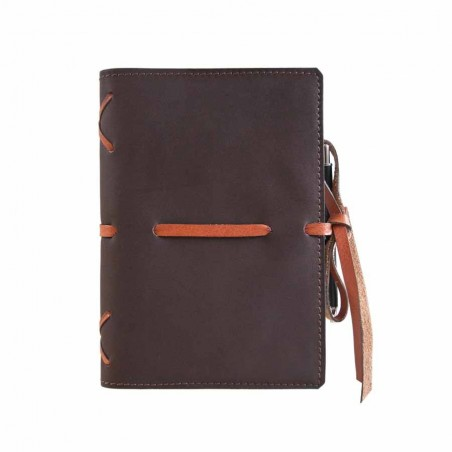 "Leather calendar ""Intreccio"" serie (BROWN)"