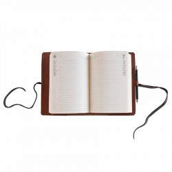 Agenda in pelle serie Intreccio (BROWN)