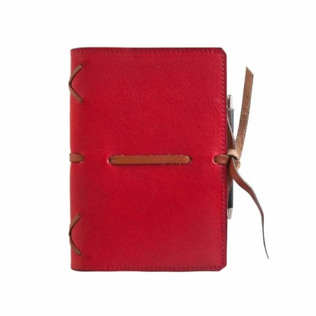 Leather calendar Intreccio serie (RED)