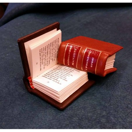 Miniature book with leather cover