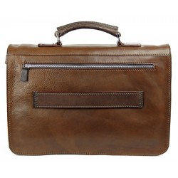 Leather briefcase 166