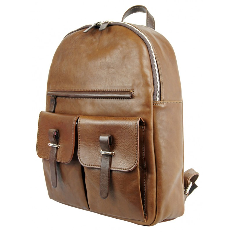7951e1db238f12 Genuine leather backpack made in Italy.