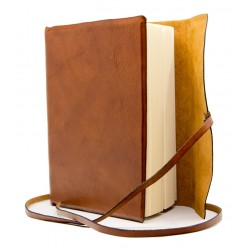 Leather journal with rough paper