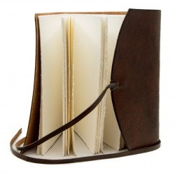 """Leather journal with """"Amalfi"""" paper"""