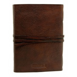 Leather notebook with Amalfi paper