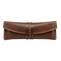Leather pencil holder