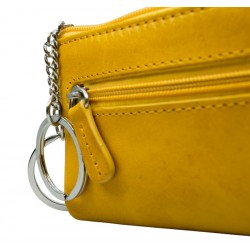 Leather keychain with zip 660