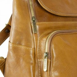 Leather backpak Oxford