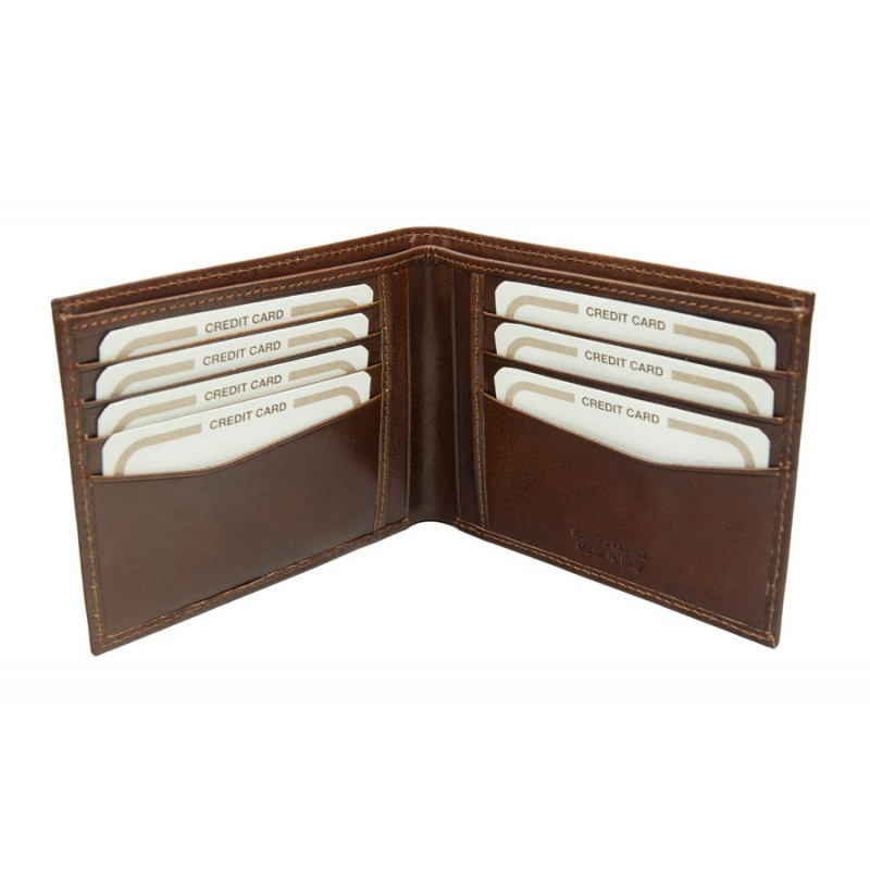 Men's wallet in genuine leather made in Italy