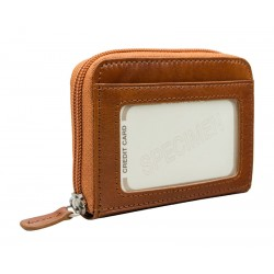 Leather credit cards holder with zip 3201