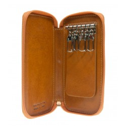 Leather key holder with zip 563