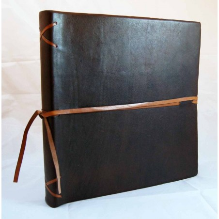 Leather photo album with plot